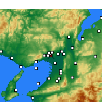 Nearby Forecast Locations - Itami Airport - Map
