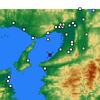 Nearby Forecast Locations - Kansai region - Map