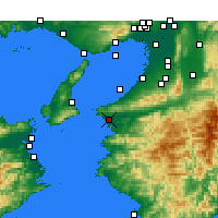 Nearby Forecast Locations - Wakayama - Map