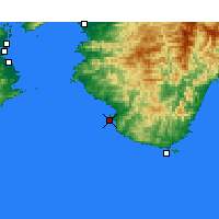Nearby Forecast Locations - Shirahama - Map