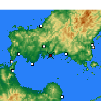 Nearby Forecast Locations - Hōfu - Map