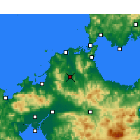 Nearby Forecast Locations - Iizuka - Map