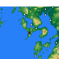 Nearby Forecast Locations - Nagasaki - Map
