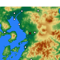 Nearby Forecast Locations - Kumamoto - Map
