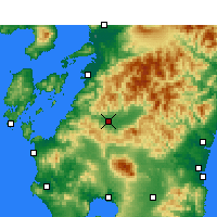 Nearby Forecast Locations - Hitoyoshi - Map