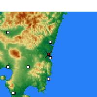 Nearby Forecast Locations - Miyazaki - Map