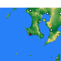 Nearby Forecast Locations - Makurazaki - Map