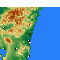 Nearby Forecast Locations - Nyutabaru - Map
