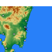 Nearby Forecast Locations - Miyazaki Airport - Map