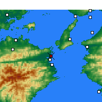 Nearby Forecast Locations - Tokushima Airport - Map