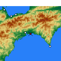 Nearby Forecast Locations - Kōchi Airport - Map