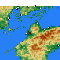 Nearby Forecast Locations - Matsuyama - Map