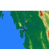Nearby Forecast Locations - Mawlamyine - Map