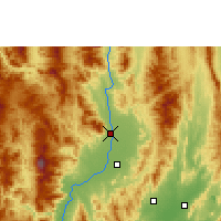 Nearby Forecast Locations - Chiang Mai - Map
