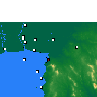 Nearby Forecast Locations - Chonburi - Map