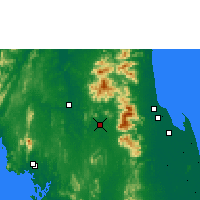 Nearby Forecast Locations - Chawang - Map