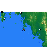 Nearby Forecast Locations - Ko Lanta - Map