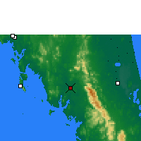 Nearby Forecast Locations - Trang - Map