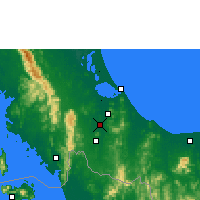 Nearby Forecast Locations - Hat Yai - Map