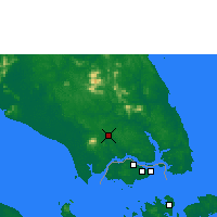 Nearby Forecast Locations - Johore Bharu/Senai - Map