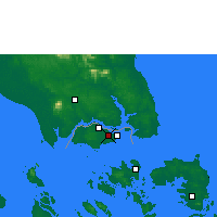 Nearby Forecast Locations - Singapur/Paya - Map
