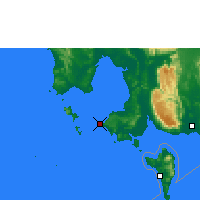 Nearby Forecast Locations - Sihanoukville - Map