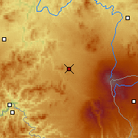 Nearby Forecast Locations - Donggang - Map
