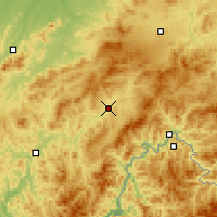 Nearby Forecast Locations - Hunjiang - Map