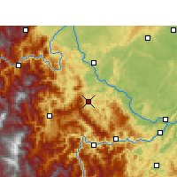 Nearby Forecast Locations - Muchuan - Map