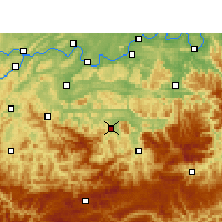 Nearby Forecast Locations - Xingwen - Map