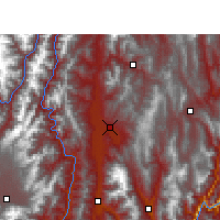 Nearby Forecast Locations - Xichang - Map