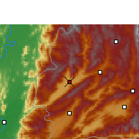 Nearby Forecast Locations - Yingjiang - Map