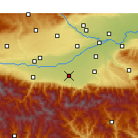 Nearby Forecast Locations - Huyi - Map