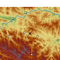 Nearby Forecast Locations - Shiyan - Map