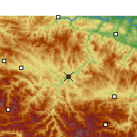 Nearby Forecast Locations - Zhushan - Map