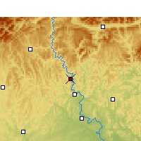 Nearby Forecast Locations - Cangxi - Map