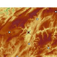 Nearby Forecast Locations - Enshi - Map