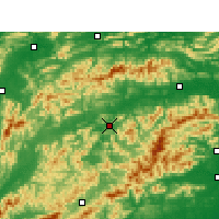 Nearby Forecast Locations - Xiushui - Map