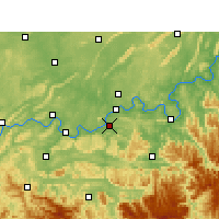 Nearby Forecast Locations - Naxi - Map