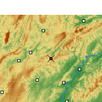 Nearby Forecast Locations - Guzhang - Map