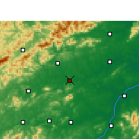 Nearby Forecast Locations - Shanggao - Map