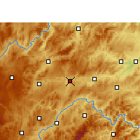 Nearby Forecast Locations - Shibing - Map