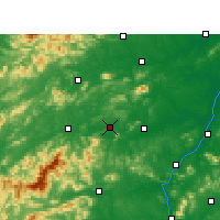 Nearby Forecast Locations - Fenyi - Map