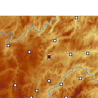 Nearby Forecast Locations - Huangping/GZH - Map