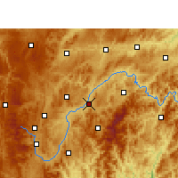 Nearby Forecast Locations - Kaili - Map