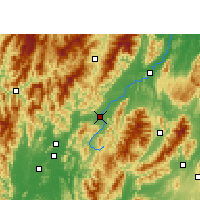 Nearby Forecast Locations - Xingan/GXA - Map