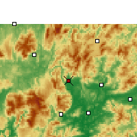Nearby Forecast Locations - Lechang - Map