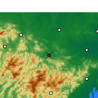 Nearby Forecast Locations - Huoshan - Map