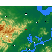 Nearby Forecast Locations - Tongcheng/ANH - Map