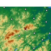 Nearby Forecast Locations - Tianmu Mountain - Map